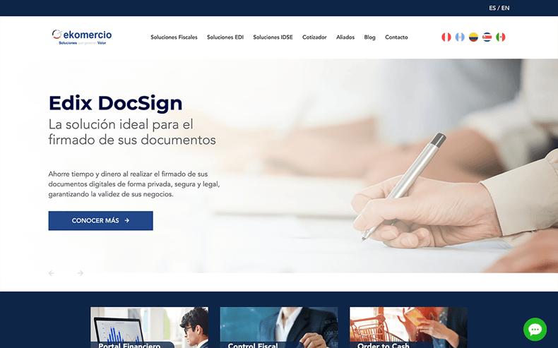 Sitio Web Ekomercio