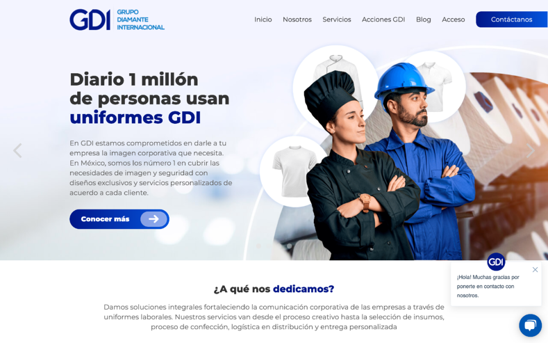 Sitio Web de GDI Uniformes
