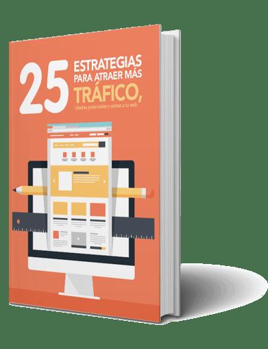 Guía gratis con 25 estrategias para atraer más tráfico a tu sitio web.